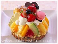フルーツタルトデコレーションケーキ